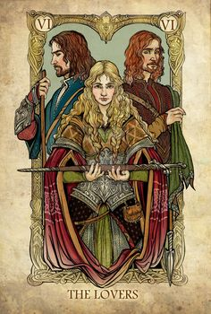 Lord of the Rings Tarot: The Lovers by ~SceithAilm on deviantART
