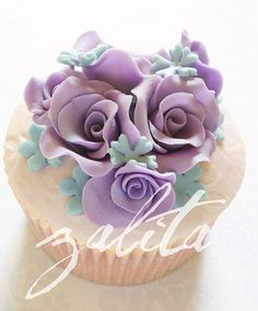 violet and pale blue cupcakes