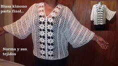 Blusa crochet tipo kimono ( terminada)