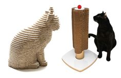 rascador gato carton juguete. Scraper scratch cardboard toy cat cats