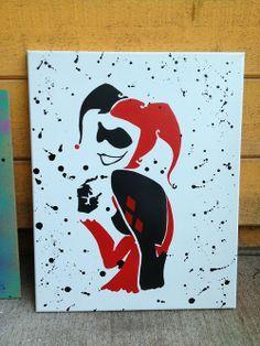 harley quinn canvas art - Google Search