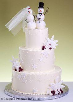 Snowman Winter Couple Cake