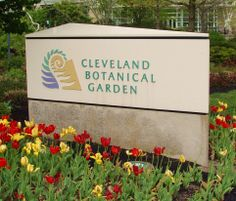 Cleveland Botanical Garden sign, logo and lots of tulips and flowers in the spring! Cleveland Botanical Garden, Botanical Gardens, Plant Pictures, Garden Signs, Unique Gardens, Garden Photos, Wonderful Places, Tulips, Ohio