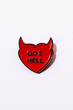 Tell ur lover to go 2 hell at widest point Part of The She Devil Collection Silver colored soft enamel pin with backing Karten Tattoos, Madison Montgomery, Devil Tattoo, Monster Prom, Jacket Pins, Sarada Uchiha, Pin And Patches, Cute Pins, Old Art