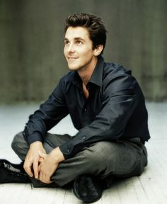 Christian Bale ❤ of course my day wouldn't be complete without pinning a pic of Christian :)