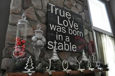Great true meaning of Christmas decor sign.