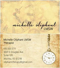I designed my mother's business card using photoshop! Michelle Oliphant, LMSW Wichita, Kansas Therapist | Therapy | Counseling | Treatment Carina Branson Design | Graphic Design |