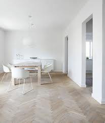 limed herringbone floor