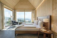 Ferienhaus Steiermark mit Pool und Sauna Bungalow, Holiday Destinations, Curtains, Luxury, Sauna, Home Decor, Hotels, Austria, Wanderlust