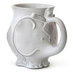 Jonathan Adler Utopia Elephant Stoneware Mug from Saks Fifth Avenue Elephant Mugs, Elephant Love, Elephant Stuff, Elephant Gifts, Elephant Walk, White Elephant, Giraffe, Jonathan Adler, Stoneware Mugs