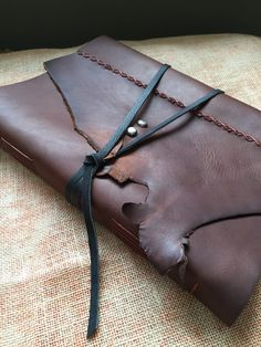 Large Leather-Bound Sketchbook by AshenFireOriginals on Etsy