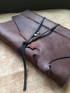 Large Leather-Bound Sketchbook by AshenFireOriginals on Etsy