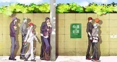Kagami Taiga, Midorima Shintarou, Kise Ryota, Akashi Seijurou, Kuroko Tetsuya, Akashi Seijurou, Murasakibara Atsushi
