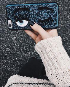 """Chiara Ferragni flirting eye iPhone 6 cases just arrived in many different colors! #newin #chiaraferragnicollection #glittercase"""