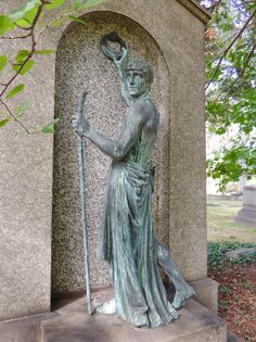 """Knockin' on Heaven's Door"" memorial grave marker, Lake View Cemetery, Cleveland, Ohio"