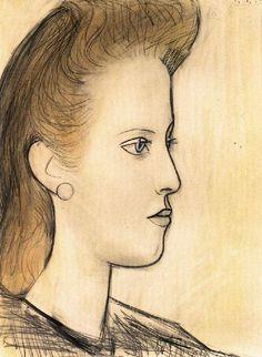 Pablo Picasso - Portrait of Mademoiselle Aubrey, 1941