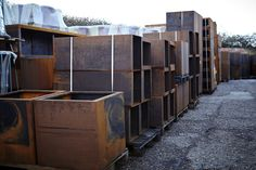 Lots of Corten Steel in stock at our warehouse in the Kent countryside!