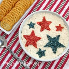 Red, Blue and White 4th Of July Party Food