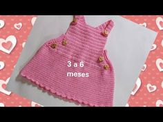 Crochet For Kids, Diy Crochet, Crochet Baby, Top Tejidos A Crochet, Baby Dress, Diy And Crafts, Youtube, Clothes, Videos