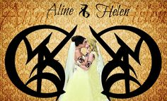 """Helen and Aline drew the marriage runes over each other's hearts with steady hands. When Aline drew Helen's bright head down to her own for a kiss, there was applause all throughout the hall."" - Bitter of Tongue"