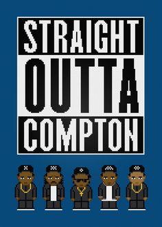 N.W.A - Straight Outta Compton - PixelPower - Amazing Cross-Stitch Patterns