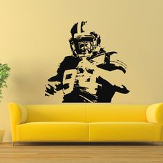 Football Player Vinyl Art Decal Sticker
