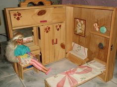 homemade Barbie dollhouse