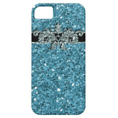 Girly Sparkle Glitter iPhone 5 Case Turquoise
