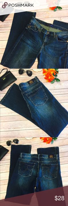 """⚡️⚡️Rock & Republic """"Kassandra"""" Low Rise Dark Jean Rock & Republic """"Kassandra"""" Style Low Rise Dark Wash Jeans. Excellent Condition Like New!! Size 12m. Waist Is Approx 15 3/4"""" Inches Laying Flat And Approx 32 1/4"""" Inches Inseam. Rock & Republic Jeans Boot Cut"""