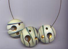 Keystone Three Orb Set -by glass artist Dolores Barrett - http://www.morganglassgallery.com/artists/barrett.htm