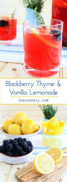 Blackberry Thyme + Vanilla Lemonade | The perfect summer drink! | TheNoshery.com - @thenoshery