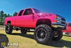 pink lifted chevy truck tj said he'll get it for me :)