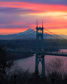 Sunrise Images, George Washington Bridge, The St, Portland Oregon, Brooklyn Bridge, Golden Gate Bridge, Backdrops, City, Travel
