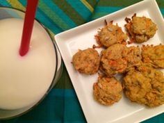 Carrot cookies on a square white plate with a glass of milk with a red straw on the side Healthy Baking, Get Healthy, Healthy Recipes, Healthy Heart, Carrot Cookies, Healthy Cookies, Dash Diet, Turkey Recipes, Baked Goods