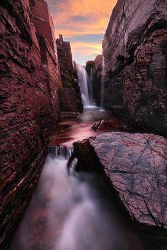 Waterfall passage, Montana, USA,  by VictorLiu Photography