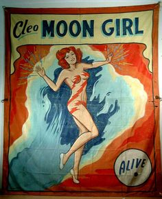 vintage sideshow banners   http://www.hammergallery.com/