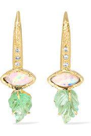 Maya 18-karat gold multi-stone earrings