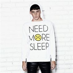 NEED MORE SLEEP Unisex Hood Sweatshirt
