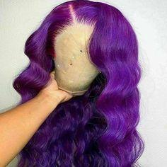 Purple Brown Hair, Purple Wig, Red Hair Color, Red Purple, Color Red, Purple Style, Blue Ombre, Colour, Kinky Curly Hair