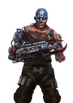 Cyberpunk, Cyborg, Mean Machine Angel by ~Trufanov on deviantART Cyberpunk Rpg, Cyberpunk Character, Comic Character, Character Concept, Character Design, 2000ad Comic, Heros Comics, Mean Machine, Comic Art