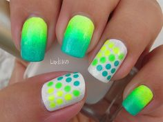 Neon Dots by Linda165 - Nail Art Gallery nailartgallery.nailsmag.com by Nails Magazine www.nailsmag.com #nailart