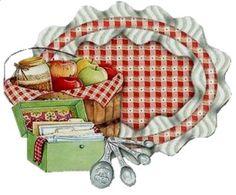 les meli melo de mamietitine - Page 80 Kitchen Art, Country Kitchen, Vintage Kitchen, Country Cooking, Vintage Cards, Vintage Paper, Kitchen Clipart, Country Art, Country Living