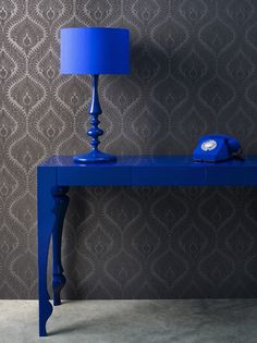 I love blue and grey together. Just not real fond of this blue though... anyway it is Mel Yates at Design to Inspire