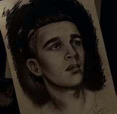 Matthew Healy,charcoal, 1975 by me