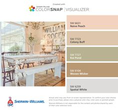 Paint Color Sw 6631 Naive Peach From Sherwin Williams Wall
