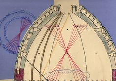 """Brunelleschi dome cross section shows how he arrived by """"trial and error"""" technique far advanced for the time."""