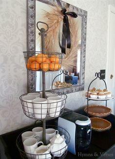 Thanksgiving coffee and dessert bar