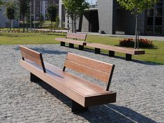 Wooden Bench with back HARRIS by Metalco design Sjit