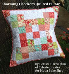 Charming Checkers Quilted Pillow « Moda Bake Shop