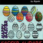 Easter Clipart Collection (Egg) Over 50 pieces of Easter clipart in png and jpg format - 12 Color Easter Clipart .PNG - 13 Color Easter Clipart .JP...